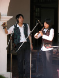 Singer and quena player
