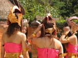 Japanese girls in Balinese dress
