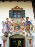 Bavarian-style wall mural