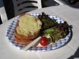 A little croque-monsieur lunch