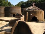 Replicas of the mud-brick dwellings