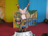 Cambodian Circus entertainers