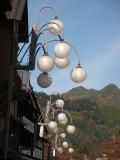 Lantern globes along a main street, Kiso-Fukushima