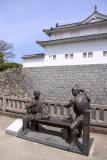 Statue of Edo-era author Jippensha Ikku