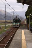 Obama-line train arriving at Higashi-Obama Station