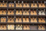 Display of geta (wooden sandals)
