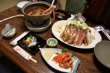 Nabe (hotpot) set beside the other dishes