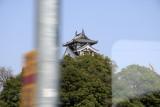 Glimpse of Fukuchiyama-jō from the train