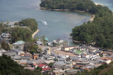 Tourist boat sailing into Monju port