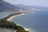 Hotels on the far shore off Fuchū village