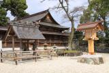 Beside the main hall of Kono-jinja
