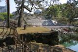 Inner moat and donjon construction
