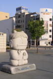 Ao-oni-kun statue outside Takamatsu Station