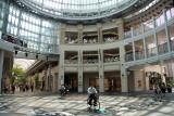 Riding beneath the dome in Marugame-machi