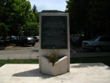 Plaque commemorating local assistance to Kosovo