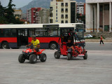 Four-wheeled fun on Sheshi Skënderbej