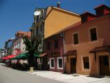 Historic facades on the main street