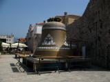 Giant bell outside Stari Grad