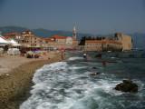 Mogren Beach and walled Stari Grad