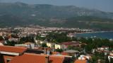 The low-rise resort town sprawl of Budva