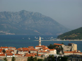 Budva's old town and surrounding bay