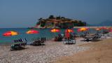 Beach outside Sveti Stefan