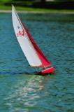 Radio Control sailboat.