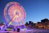 Grande roue a spin dans le vieux Montreal