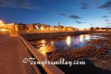 Alma, la riviere et le centre-ville au coucher de soleil