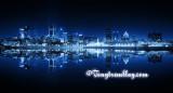 Montréal le soir ... Monochrome bleu