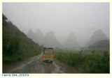 Rainy Moment in a Karst Landscape