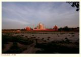 Taj Mahal at sunset - I