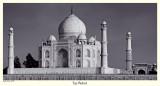 Taj Mahal at sunset - II (B&W)