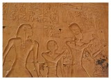 Seti I and Ramesses II offering fowl to Amon-Re and Mut