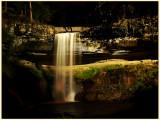 Minnehaha Falls at 1:00am under flood light.