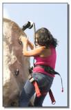 Fake rock climbing