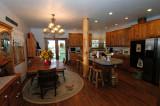 Kitchen-custom knotty oak cabinets
