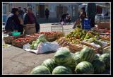 Watermelon in vegetable market