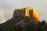 Sedona AZ Castle Rock Rainbow 1