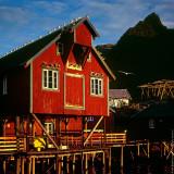 A i Lofoten Village Morning, Norway