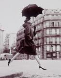 Carmen ( Homage to Munkacsi), coat by Cardin, Place Francois-Premier Paris, 1957