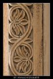 Ornaments on a wooden door