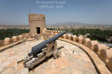 Nakhal Fort - cannon at the top of one of the towers