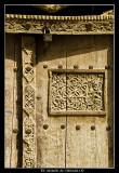 Decorations on a wooden Door
