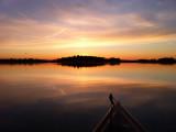 Essex Bay winter sunset