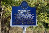 Mississippi John Hurt roadside sign