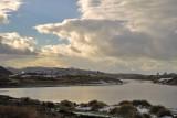 Pistol River Estuary covered in snow