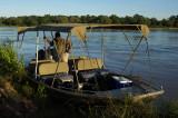 Boat for river safari