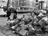 Garbagemen on strike in Amsterdam (1980's)