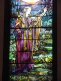 If you walk into the church, you can see beautiful Tiffany windows. (Church/windows are after Lincoln's time.)